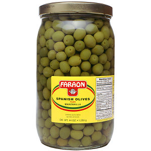 FARAON OLIVES PLAIN       6/44  OZ