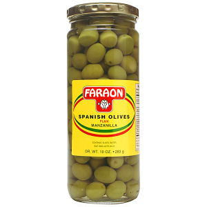 FARAON OLIVES PLAIN       12/10 OZ