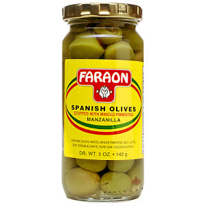 FARAON OLIVES STUFFED PIM 12/5  OZ