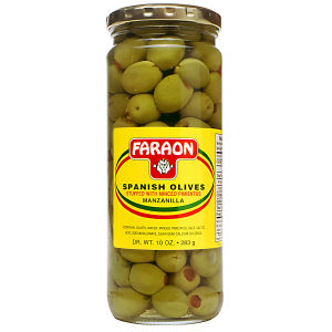 FARAON OLIVES STUFFED PIM 12/10 OZ