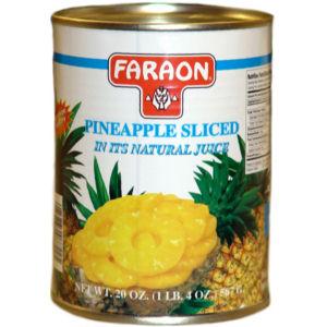 FARAON PINEAPPLE SLICED   12/20 OZ