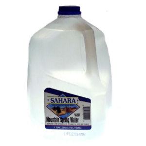 SAHARA SPRING WATER       6/1 GAL