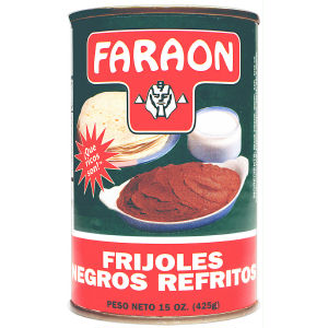 FARAON BLACK REFRIED BEAN 12/15 OZ