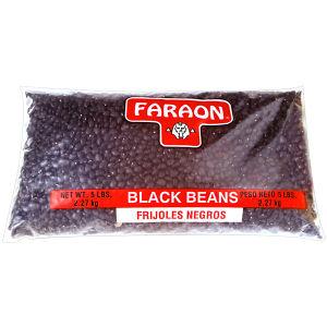 FARAON BLACK BEANS        6/5   LB
