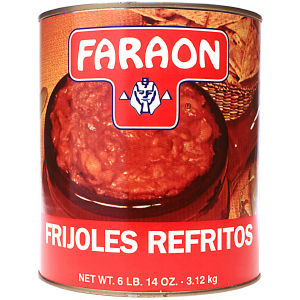 FARAON REFRIED BEANS      6/110 OZ