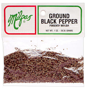 MILPAS BLACK PEPPER GRND  12/1  OZ