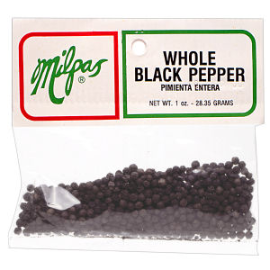 MILPAS BLACK PEPPER WHOLE 12/1  OZ