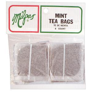 MILPAS TEA BAGS MINT      12/8 CNT