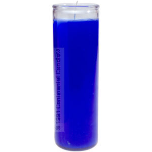 SOLID BLUE CANDLE       B 12 TALL