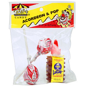 CANDY PAYASO ACORDEON+POP 12/2  OZ