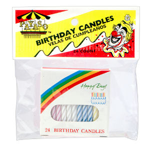 XAYASO C BIRTHDAY CANDLES 12/24 EA