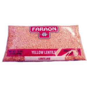 FARAON LENTIL YELLOW      12/1  LB