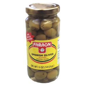 FARAON OLIVES/JALAPENOS   12/5  OZ